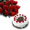Cake N Exotic Roses