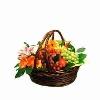 Fresh Seasonal fruits in a Basket