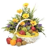 Beautiful Basket of Fruits and Flowers