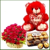 Exclusive Teddy with Roses