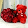 Red Roses n Teddy Combo
