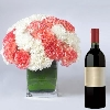 Cuddly Carnations with Wine