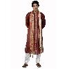 Maroon Tusser Silk Kurta Pajama Set
