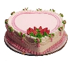 Heart Shape Strawbery Cake
