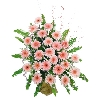 25 peach Gerbera Basket In A Basket To Mysore