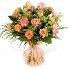 24 Orange Roses and Carnations