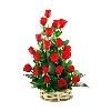 25 Red Rose Basket To Bangalore