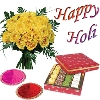 Assorted Sweets with Holi Wishes