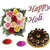 Chocolate Cake with Holi Wishes
