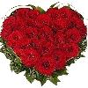 Red Heart Shaped Flower Bouquet
