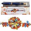 Sequines Rakhi with Reynolds Ink Pen