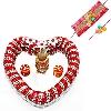 Heart Shaped Bhaiya Bhabhi Rakhi Thali