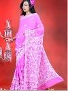 Magenta Hand Embroidered Sarees
