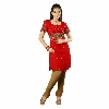 Hand Embroidered Red Georgette Suit