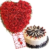 Roses Heart With Cake