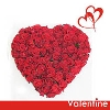 50 roses in Valentine Heart
