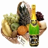 Fresh Fruits Basket with Juice