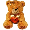 Beautiful Brown Teddy with Golden Heart